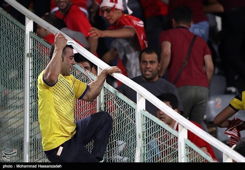 تماشاگر چاقوکش در بازی پرسپولیس - نفت مسجدسلیمان چگونه دستگیر شد؟، ممنوعیت از حضور در استادیوم در انتظار فرد متخلف