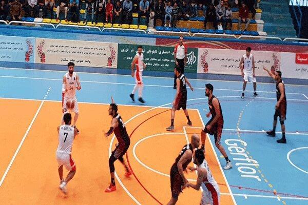 تیم بسکتبال قزوین تن به شکست داد