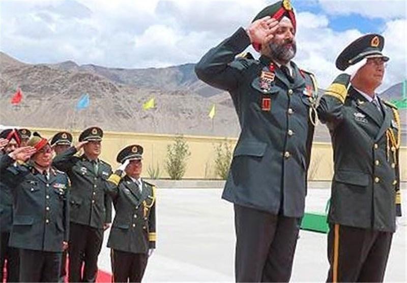 نخستین تمرین مشترک نظامی نیروهای مرزی هند و چین