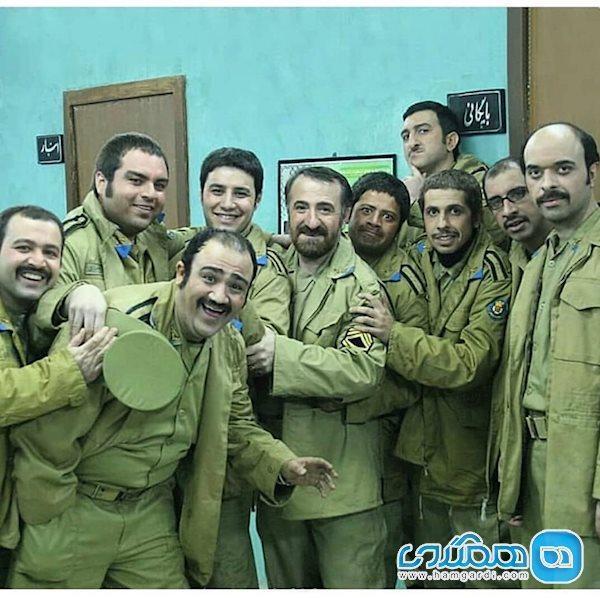 جواد رضویان و جمعی از بازیگران طنز در قرارگاه مسکونی