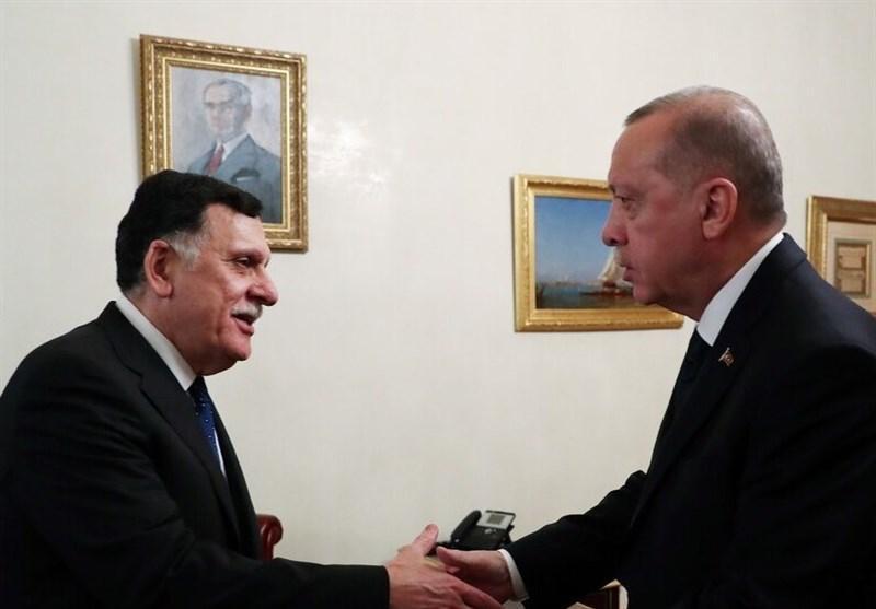 ملاقات رئیس دولت وفاق لیبی با اردوغان