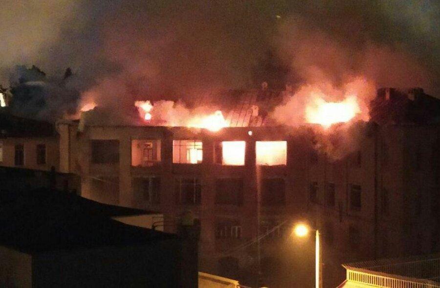 تصاویر ، دومین بیمارستان تاریخی کشور اینگونه در آتش سوخت ، حریق عمدی بود؟