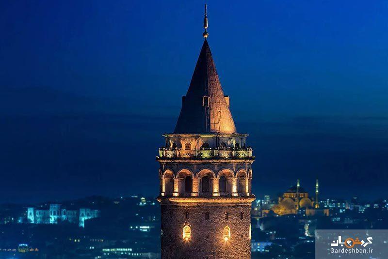 برج گالاتا از مشهورترین جاذبه های گردشگری استانبول، عکس