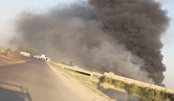 برخورد راکت به اطراف پایگاه نظامی آمریکا در صلاح الدین عراق