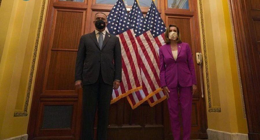 گفت وگو نانسی پلوسی و الکاظمی درباره روابط آمریکا و عراق