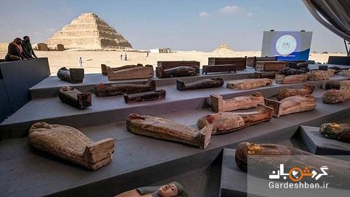تابوت های کشف شده در سقاره با قدمتی بیش از 2 هزار سال، عکس