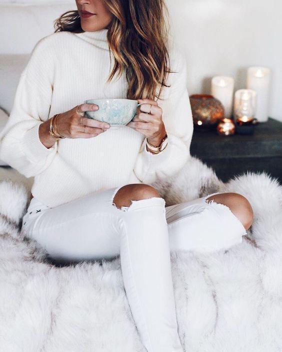 بهترین مدل ها برای ست کردن شلوار جین سفید